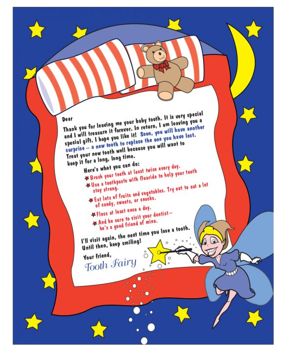 graphic relating to Tooth Fairy Ideas Printable named 37 Teeth Fairy Certificates Letter Templates - Printable