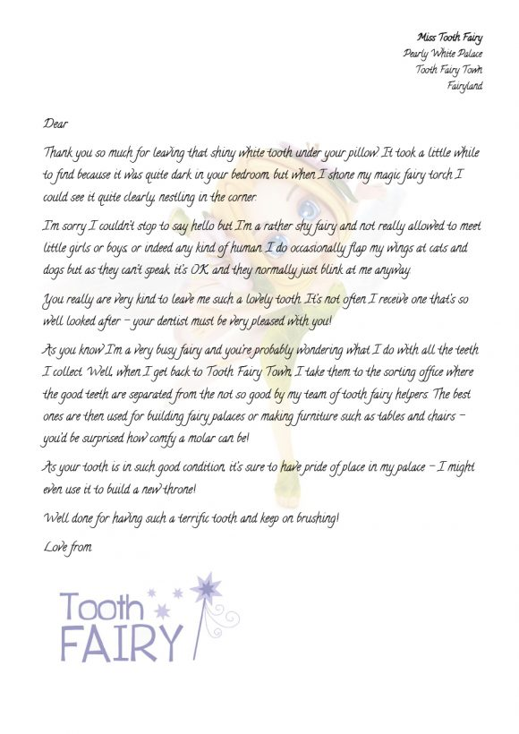 tooth fairy letter 36
