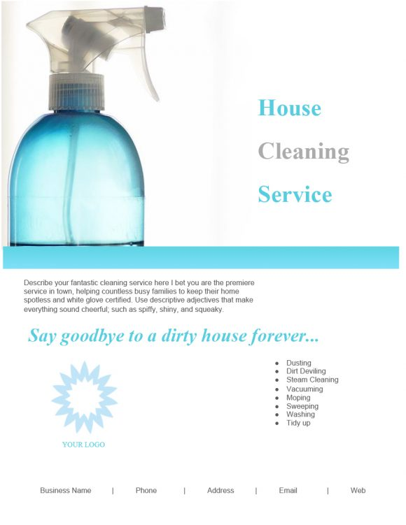 cleaning flyers 24