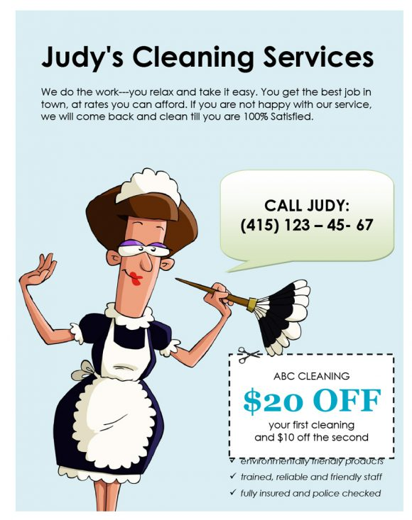 cleaning flyers 31