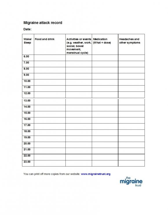 Diary Template For Word from printabletemplates.com