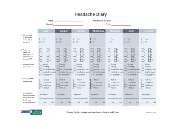 headache diary 23