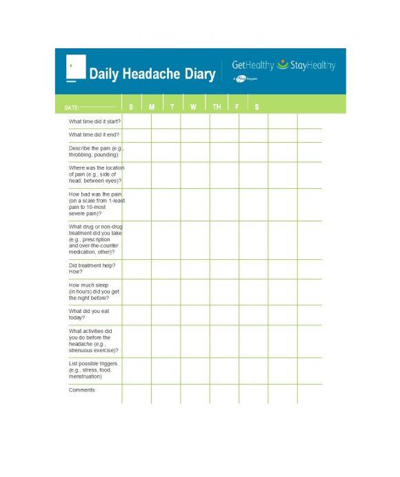 headache diary 37