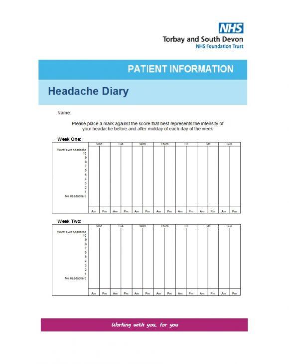 headache diary 42