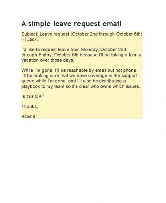 leave request email 17