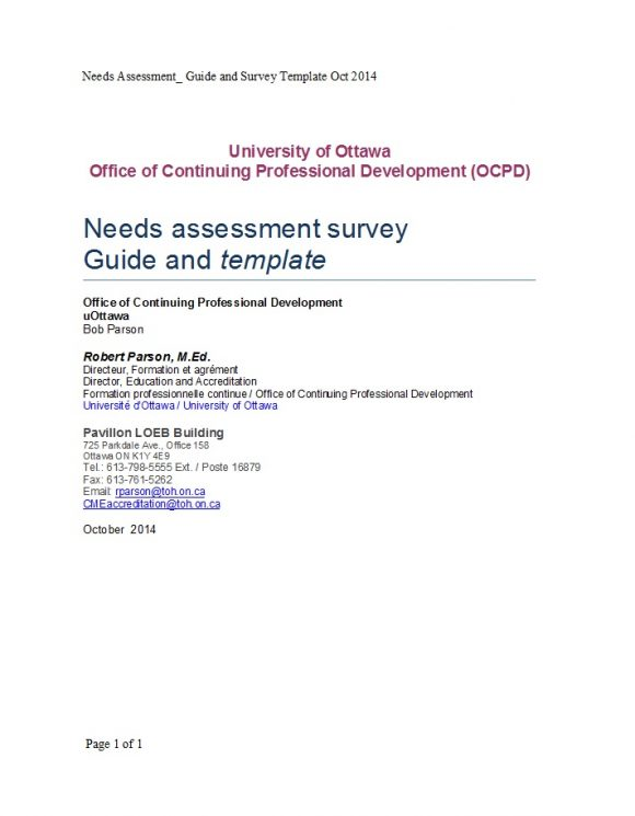 needs assessment template 24