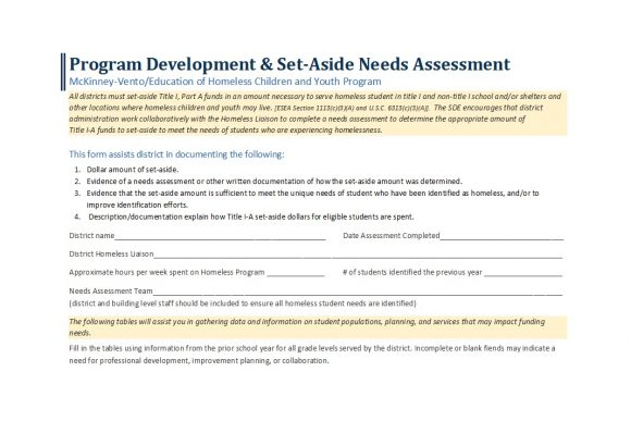 needs assessment template 36