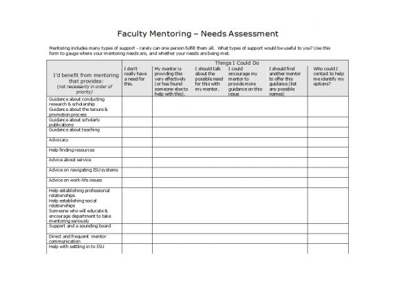 needs assessment template 38