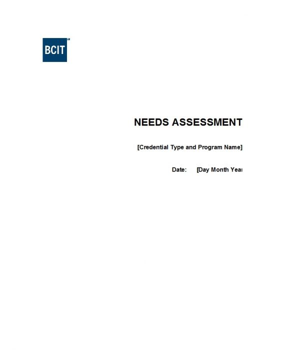 needs assessment template 39