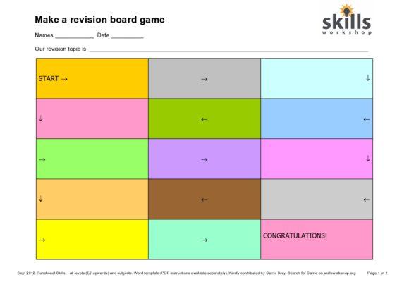 board game template 02