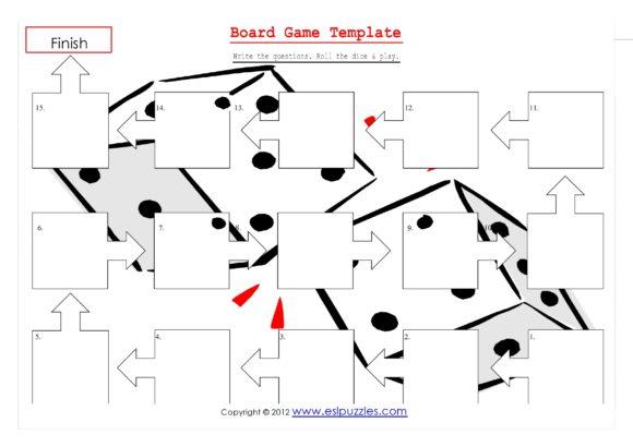 board game template 20