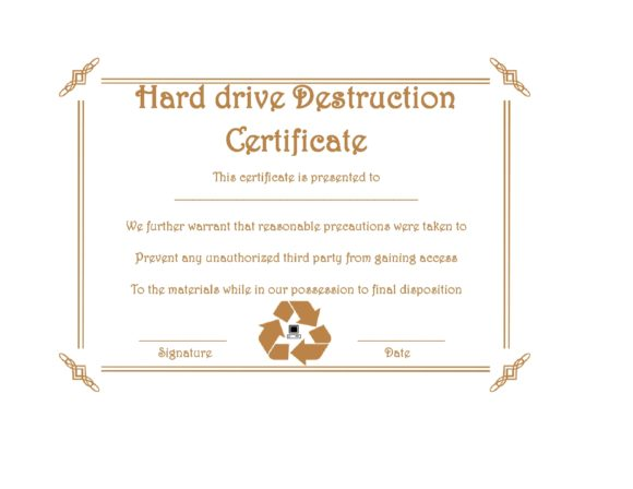 certificate of destruction 11