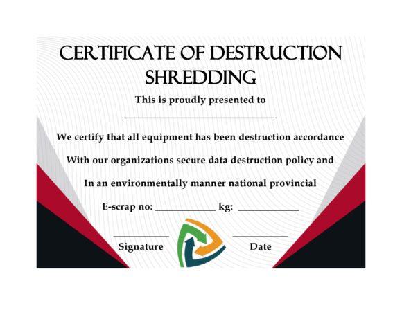certificate of destruction 12