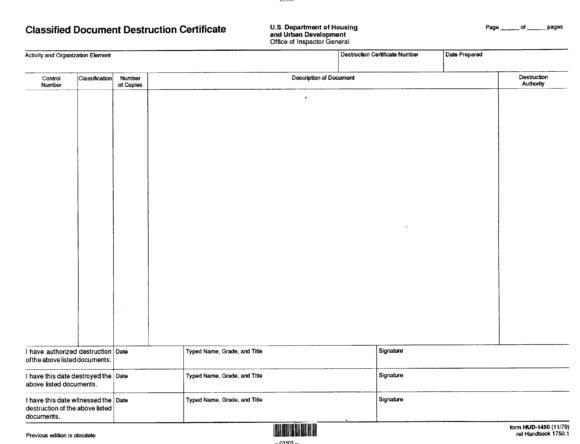 certificate of destruction 14