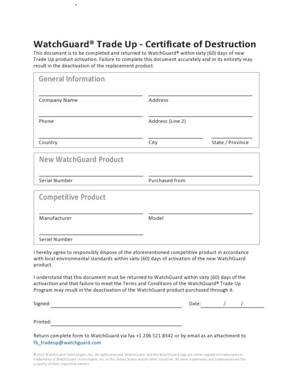 certificate of destruction 15