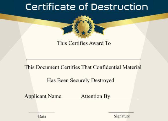 certificate of destruction 18