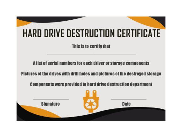 certificate of destruction 35