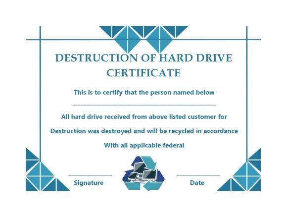 certificate of destruction 36
