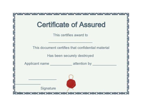 certificate of destruction 44