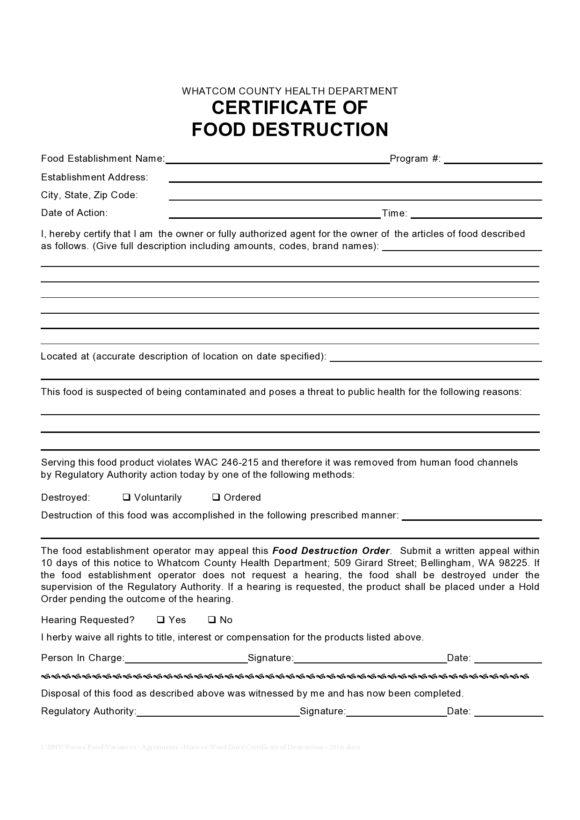 certificate of destruction 48