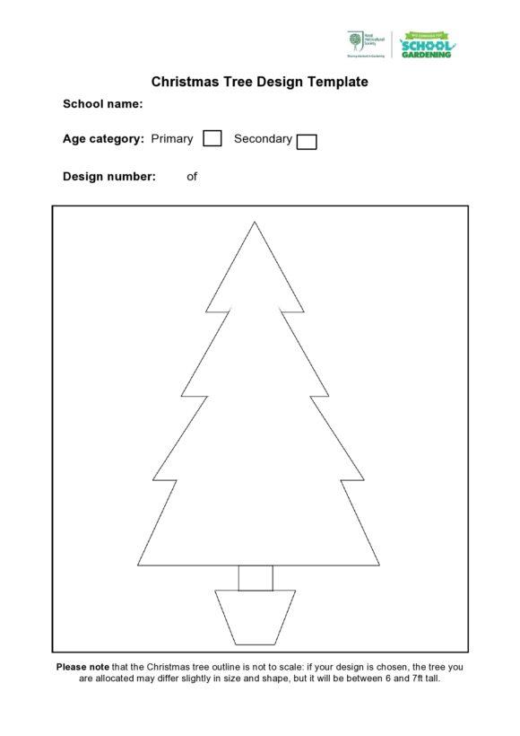 christmas tree template 01