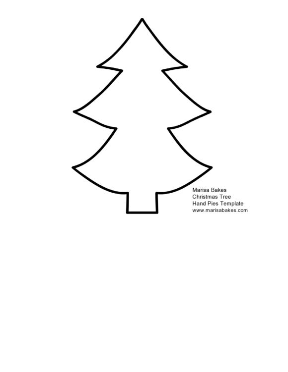 Christmas Tree Template Free from printabletemplates.com