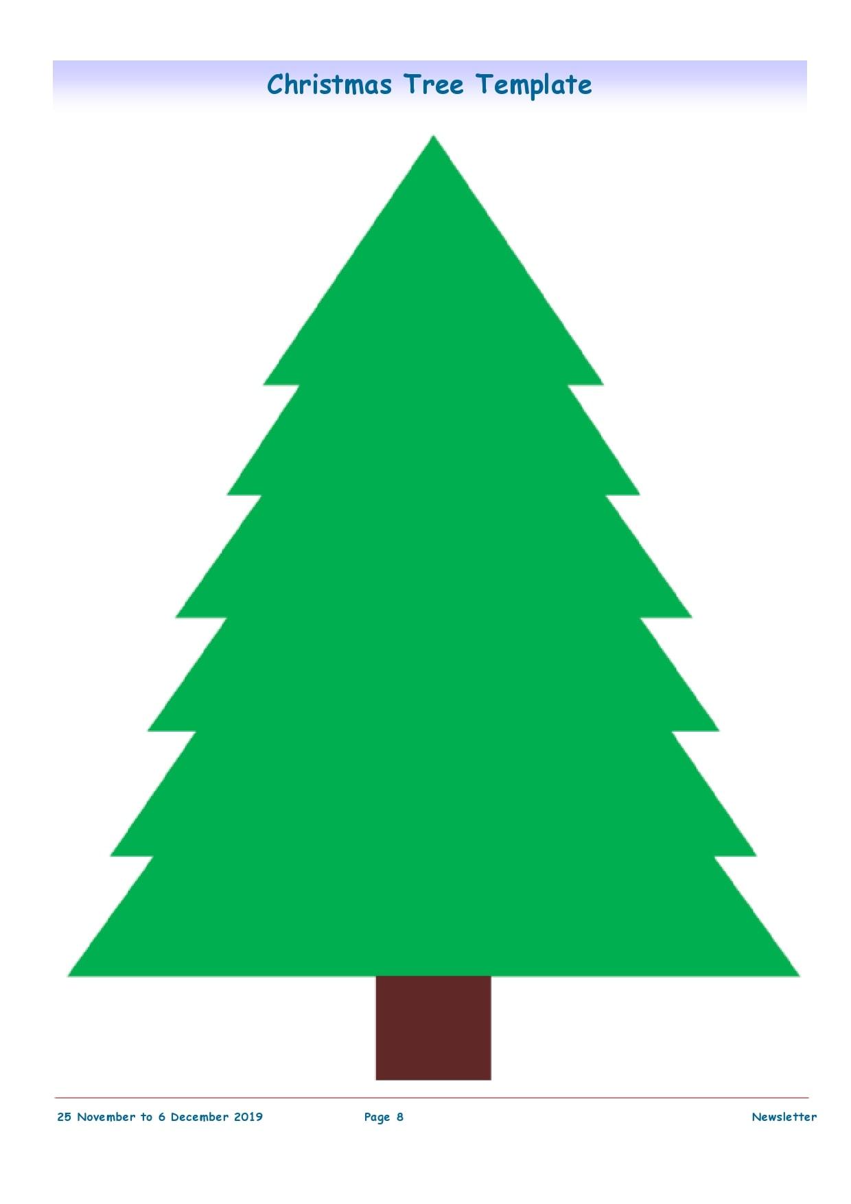 50 Printable Christmas Tree Templates Free Download Printabletemplates