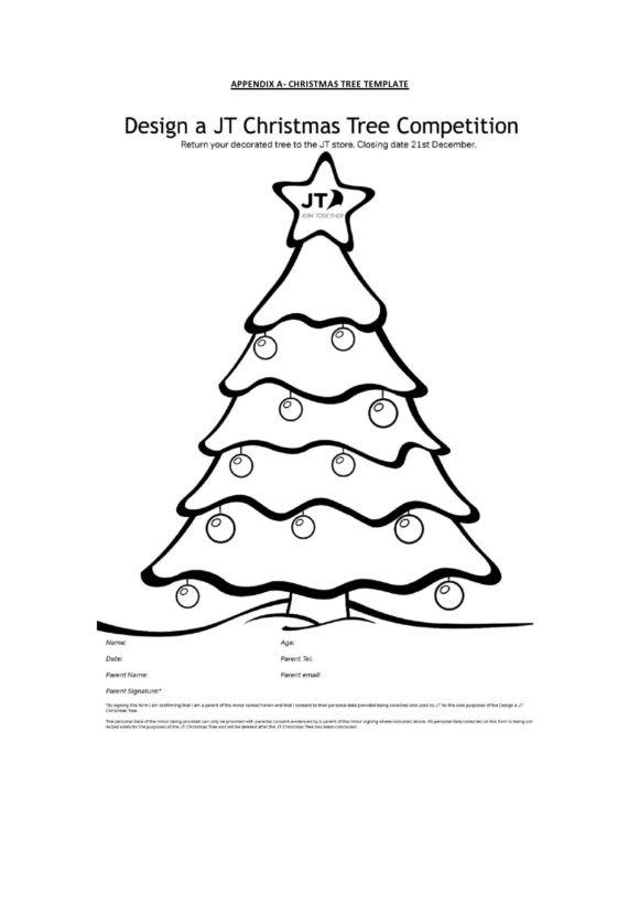 christmas tree template 21