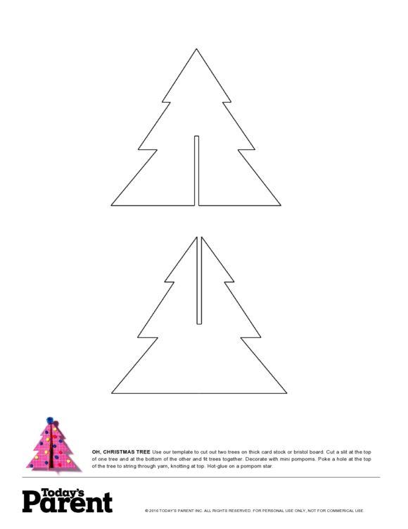 christmas tree template 50