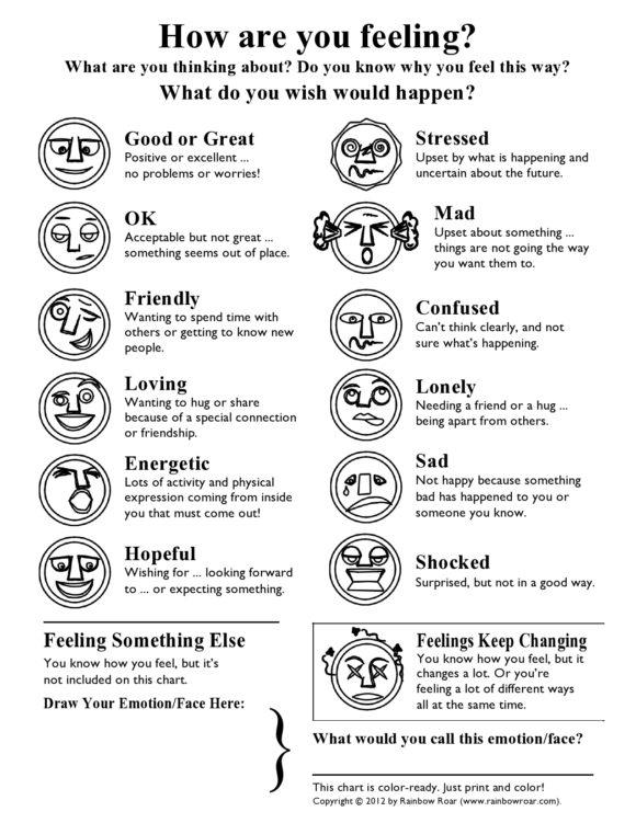 feelings chart 27