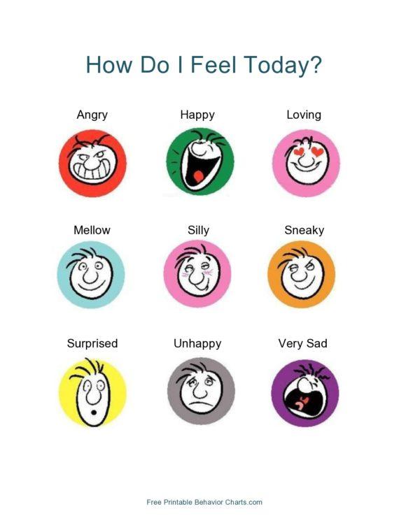feelings chart 30