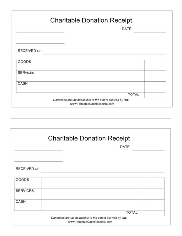 donation receipt template 15