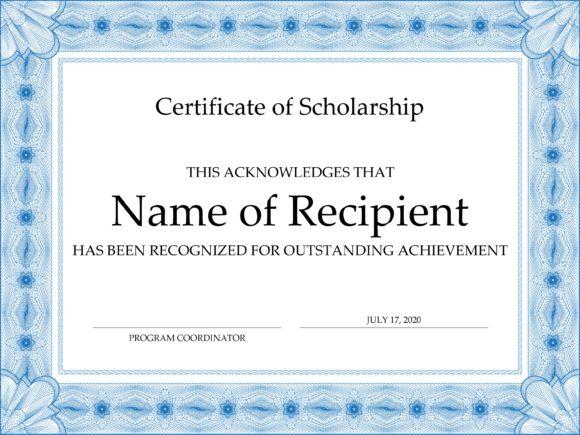scholarship certificate 02
