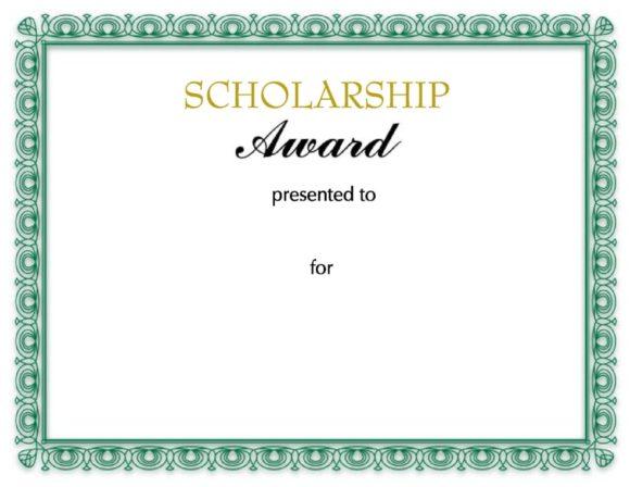 scholarship certificate 03