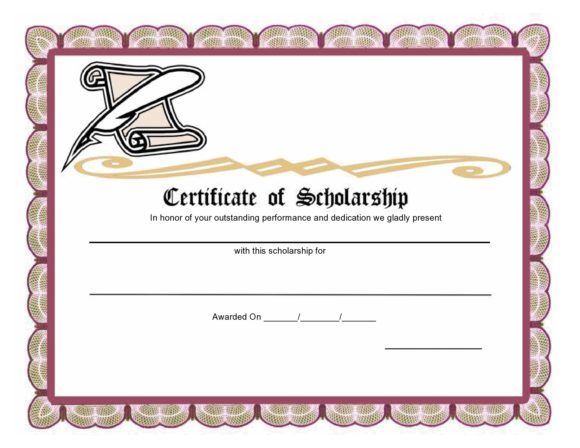 scholarship certificate 05