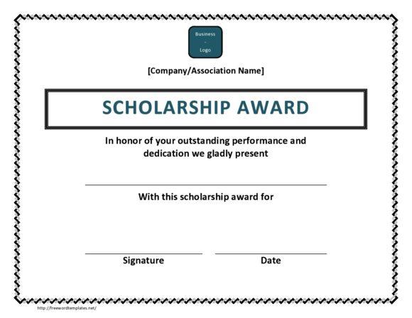 scholarship certificate 06