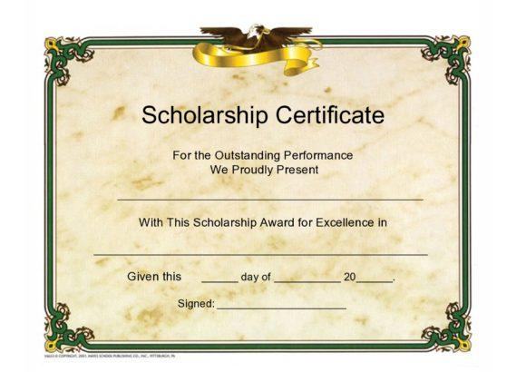 scholarship certificate 07