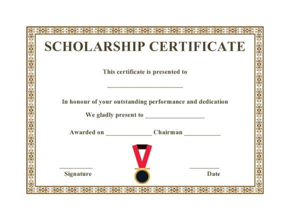 scholarship certificate 08