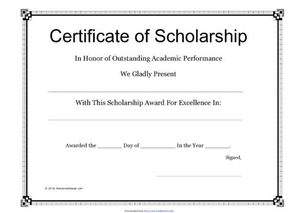 scholarship certificate 09