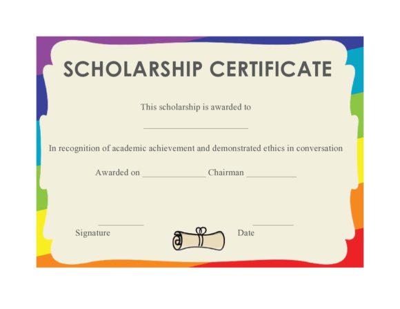 scholarship certificate 10