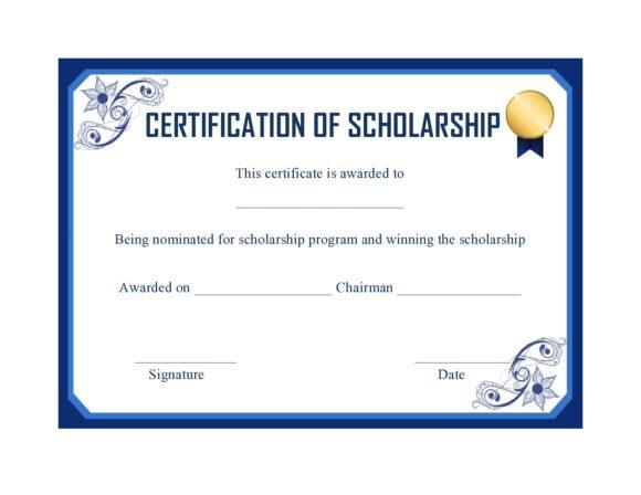 scholarship certificate 11