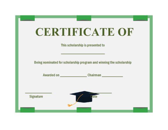 scholarship certificate 15