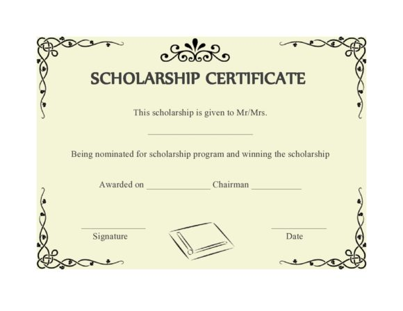 scholarship certificate 17