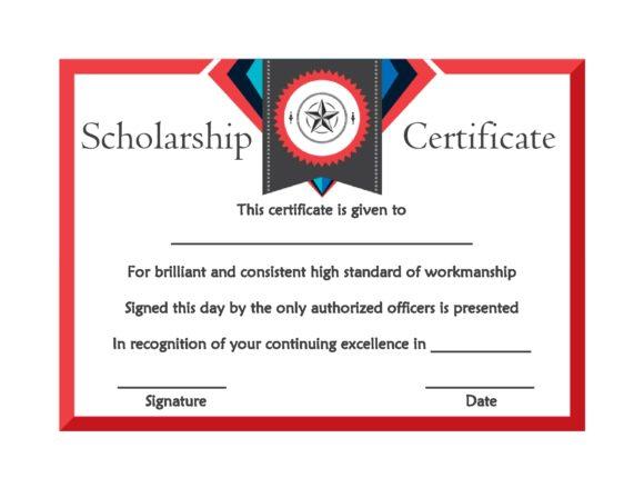 scholarship certificate 19