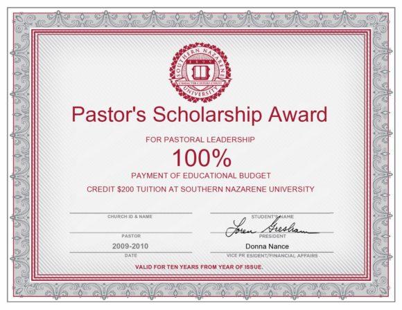 scholarship certificate 20