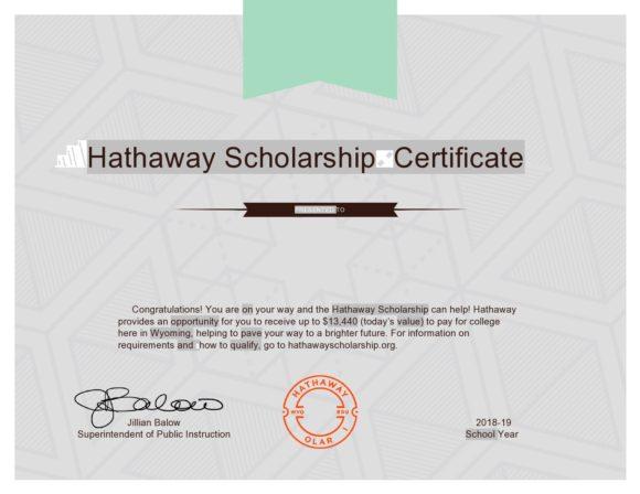 scholarship certificate 21