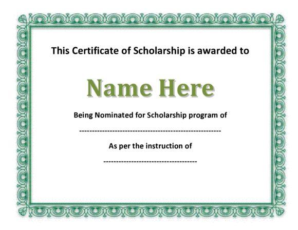scholarship certificate 22