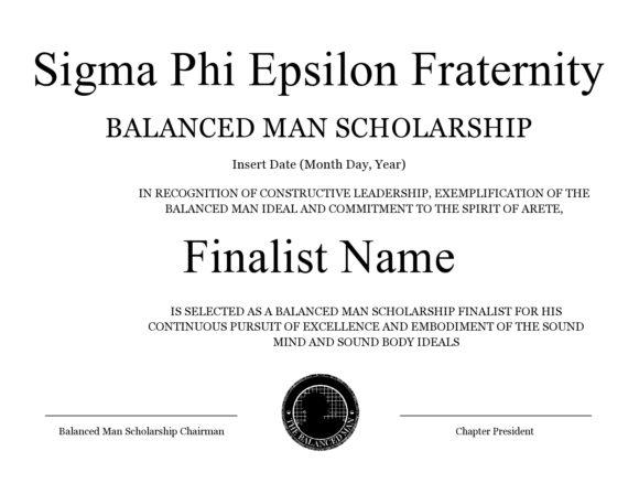 scholarship certificate 23