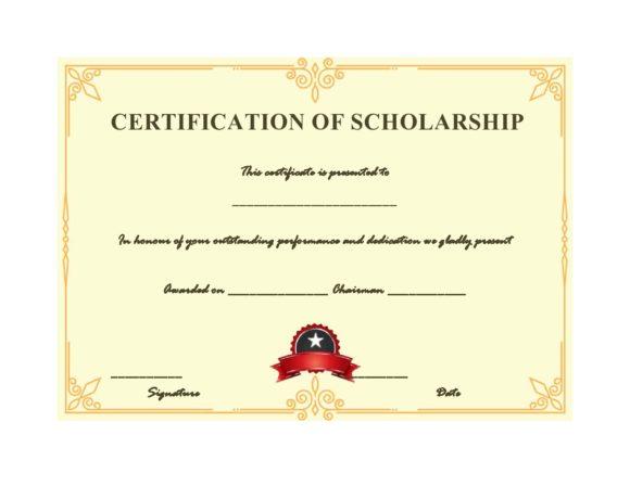 scholarship certificate 24