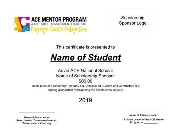 scholarship certificate 25